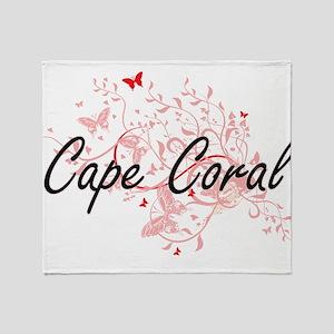 Cape Coral Florida City Artistic des Throw Blanket