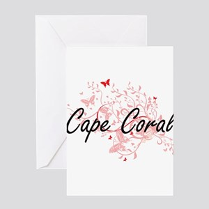 Cape Coral Florida City Artistic de Greeting Cards