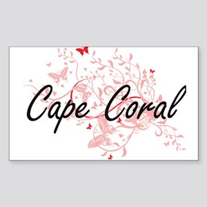 Cape Coral Florida City Artistic design wi Sticker