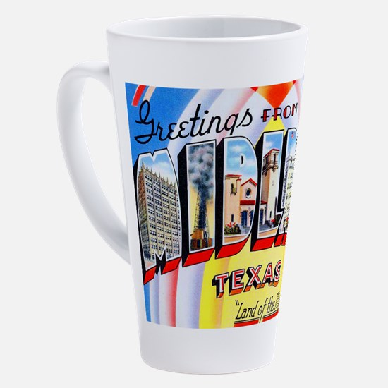 Cute Large letter 17 oz Latte Mug