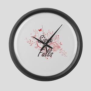 Sioux Falls South Dakota City Art Large Wall Clock