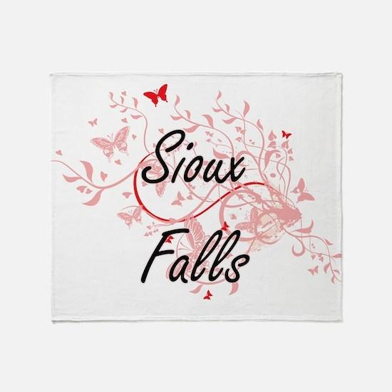 Sioux Falls South Dakota City Artist Throw Blanket