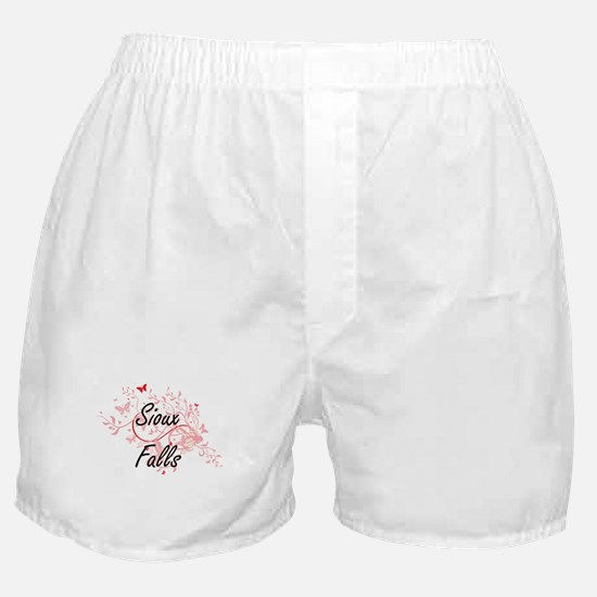 Sioux Falls South Dakota City Artisti Boxer Shorts