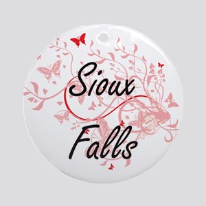Sioux Falls South Dakota City Artis Round Ornament