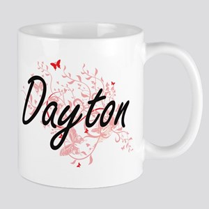 Dayton Ohio City Artistic design with butterf Mugs