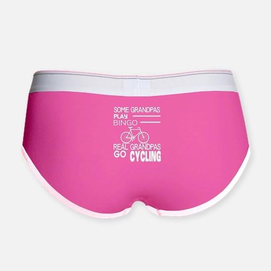 Real Grandpas Go Cycling T Shirt Women's Boy Brief