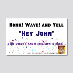 Where Everybody Knows Your Name Car Magnet 20 X 12