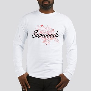 Savannah Georgia City Artistic Long Sleeve T-Shirt