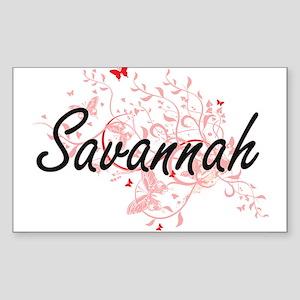 Savannah Georgia City Artistic design with Sticker