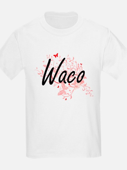 Waco Texas City Artistic design with butte T-Shirt