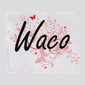Waco Texas City Artistic design with Throw Blanket