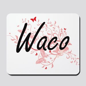 Waco Texas City Artistic design with but Mousepad