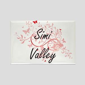 Simi Valley California City Artistic desig Magnets