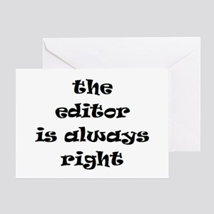 editor always right Greeting Card