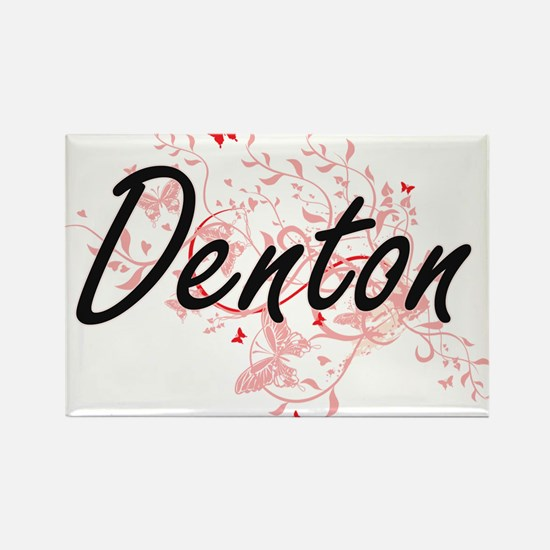 Denton Texas City Artistic design with but Magnets