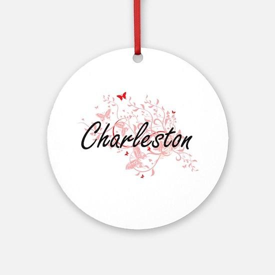 Charleston South Carolina City Arti Round Ornament