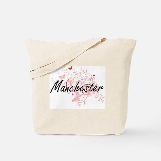 Manchester New Hampshire City Artistic de Tote Bag