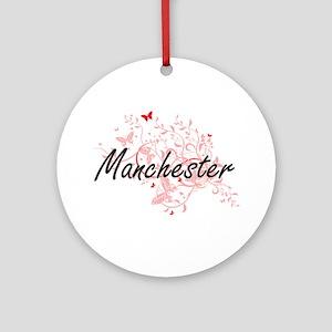 Manchester New Hampshire City Artis Round Ornament