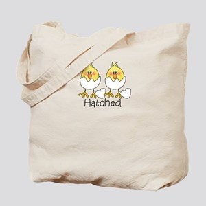HATCHED Twin Chicks Tote Bag