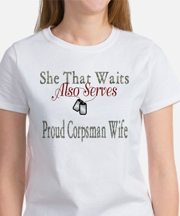 proud corpsman wife Women's T-Shirt