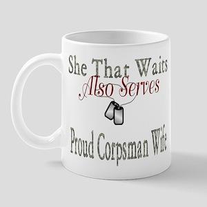 proud corpsman wife Mug