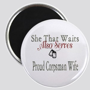 proud corpsman wife Magnet