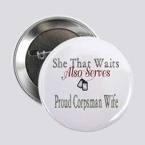 """proud corpsman wife 2.25"""" Button"""