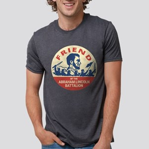 Abraham Lincoln Brigade Anti-fascist Badge T-Shirt