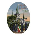 New Orleans Art Oval Ornament