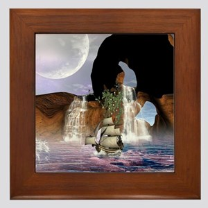 Awesome view over the ocean Framed Tile
