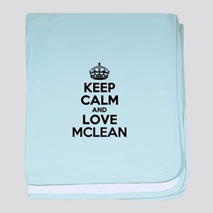 Keep Calm and Love MCLEAN baby blanket