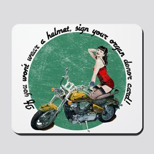 If you wont wear a helmet, sign your organ donor c
