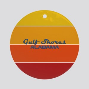 Alabama - Gulf Shores Round Ornament