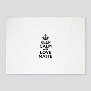 Keep Calm and Love MATTE 5'x7'Area Rug
