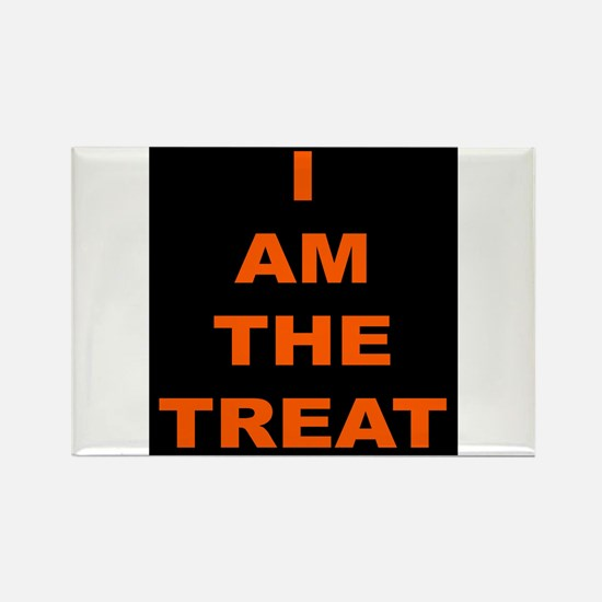 I AM THE TREAT (BLK) Rectangle Magnet