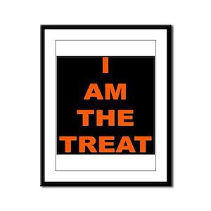 I AM THE TREAT (BLK) Framed Panel Print