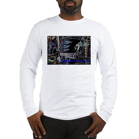 Neon Carousel Horse Long Sleeve T-Shirt