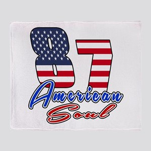 87 American Soul Birthday Designs Throw Blanket