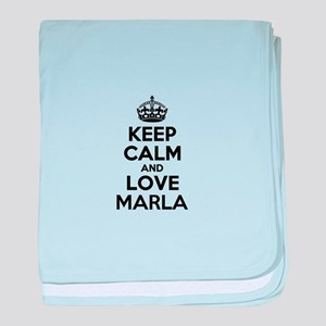 Keep Calm and Love MARLA baby blanket