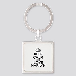 Keep Calm and Love MARILYN Keychains