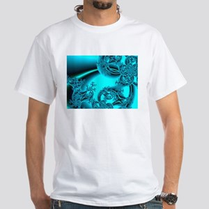 """Daybreak"" Fractal Art White T-Shirt"