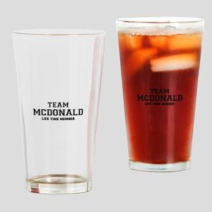 Team MCDONALD, life time member Drinking Glass