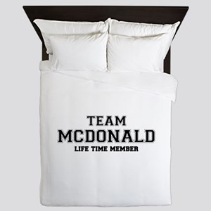 Team MCDONALD, life time member Queen Duvet