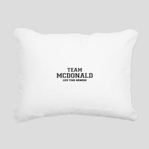 Team MCDONALD, life time Rectangular Canvas Pillow