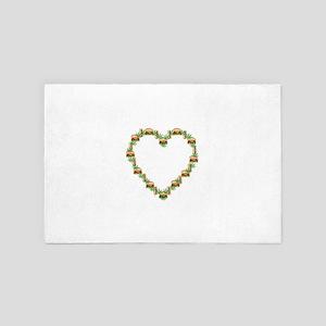 Marijuana Burger Hotdog Heart 4' x 6' Rug