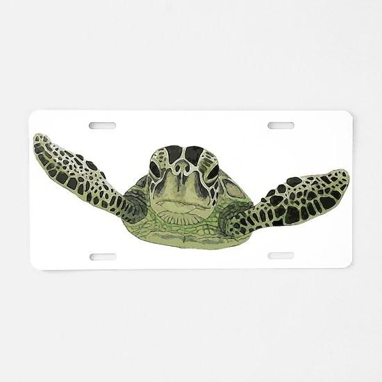 Green Sea Turtle Aluminum License Plate