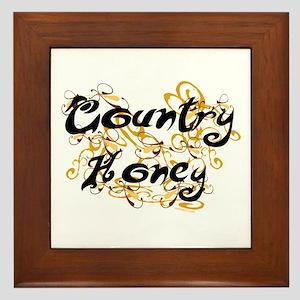 Country Honey Framed Tile