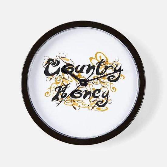 Country Honey Wall Clock