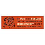 My Pug is So Evolved... - bumper sticker