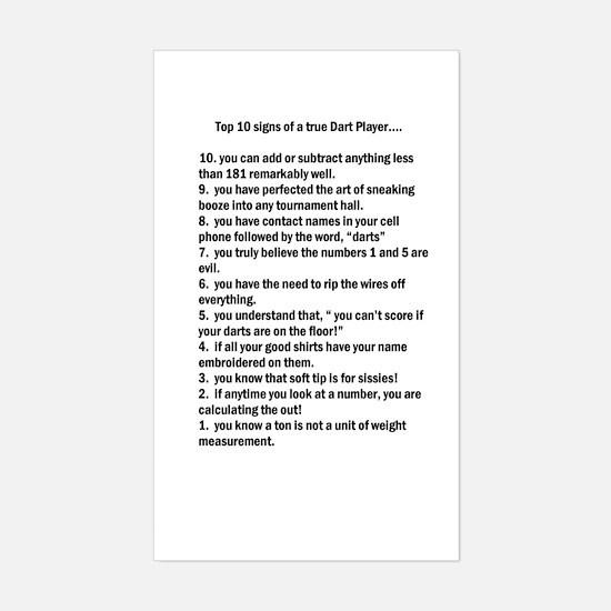 10 Sign of a True Darter Bumper Stickers